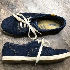 Vintage denim Keds size 6.5 blue sneakers oxfords